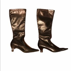 🎀2/$20 FRANCO SARTO Glossy Brown Pull On Boots